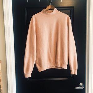 Boohoo Pink Turtleneck Sweatshirt